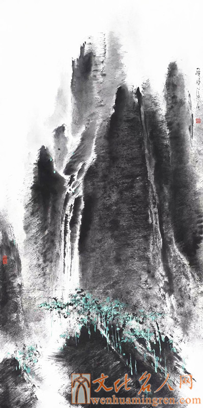 画家董俊良国画山水欣赏